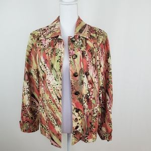 Chico's size 1 (small) vibrant print blazer